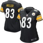 Nike Heath Miller Pittsburgh Steelers Women's Black Game Jersey