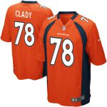 Nike Ryan Clady Denver Broncos Youth Orange Team Color Game Jersey