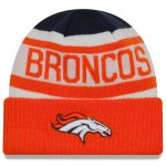 New Era Denver Broncos Navy/Orange Biggest Fan 2.0 Cuffed Knit Hat