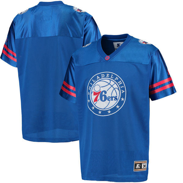G-III Sports by Carl Banks Philadelphia 76ers Royal Football Jersey