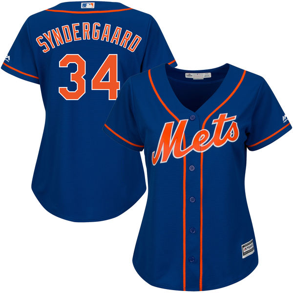 Majestic Noah Syndergaard New York Mets Women's Royal Cool Base Player Jersey