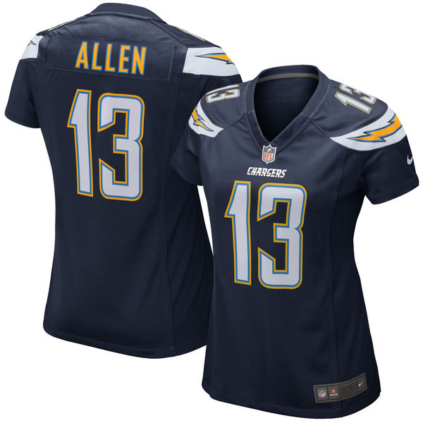 Nike Keenan Allen Los Angeles Chargers Women's Navy Blue Game Jersey