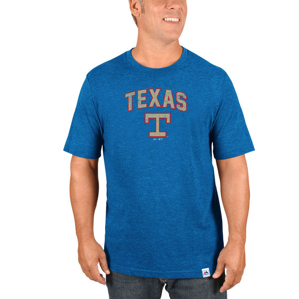 Majestic Texas Rangers Royal Cooperstown Collection Eephus Pitch Softhand T-Shirt