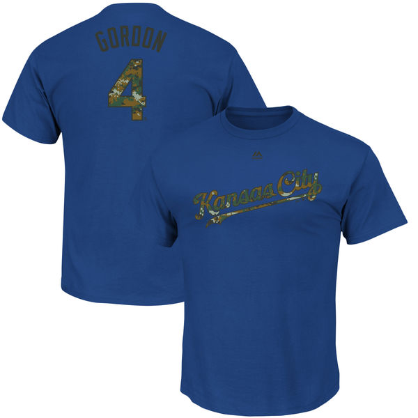 Majestic Alex Gordon Kansas City Royals Royal Memorial Day Name & Number T-Shirt