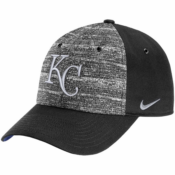 Nike Kansas City Royals Heathered Black New Day H86 Adjustable Hat
