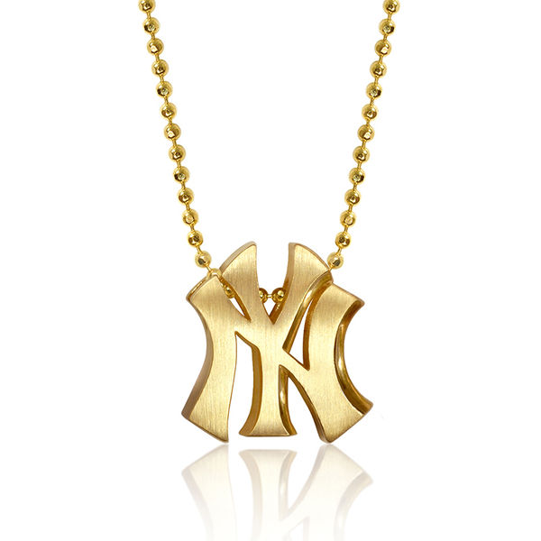 "New York Yankees Women's 16"" Little Logo 14k Yellow Gold Necklace"