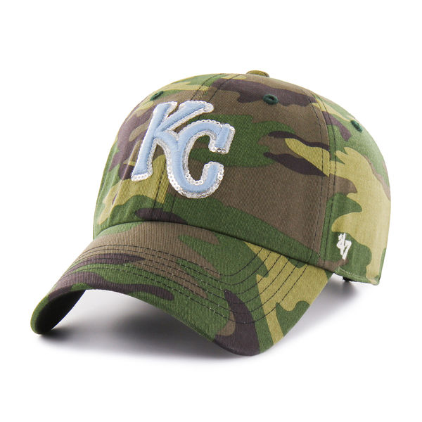'47 Kansas City Royals Women's Camo Rosita Clean Up Adjustable Hat