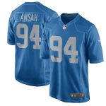 Nike Ziggy Ansah Detroit Lions Blue Throwback Game Jersey