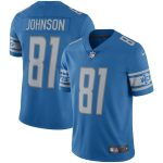 Nike Calvin Johnson Detroit Lions Blue Retired Player Limited Throwback Jersey