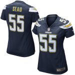 Nike Junior Seau San Diego Chargers Women's Navy Blue Retired Game Jersey