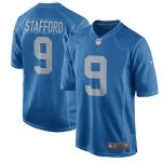 Nike Matthew Stafford Detroit Lions Youth Blue 2017 Throwback Game Jersey