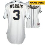 Fanatics Authentic Derek Norris San Diego Padres Game-Used White Jersey vs Milwaukee Brewers on September 30, 2015