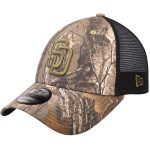 New Era San Diego Padres Camo/Black Realtree Trucker 9FORTY Adjustable Snapback Hat