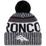 New Era Denver Broncos Black/White 2017 Sideline Cold Weather Sport Knit Hat