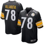 Nike Alejandro Villanueva Pittsburgh Steelers Youth Black Game Jersey