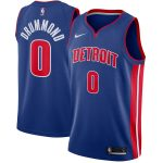 Nike Andre Drummond Detroit Pistons Blue Swingman Jersey - Icon Edition
