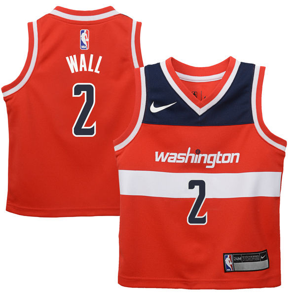 factory price 5a626 927d0 Nike John Wall Washington Wizards Infant Red Replica Jersey – Icon Edition