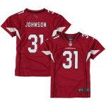 Nike David Johnson Arizona Cardinals Girls Youth Cardinal Game Jersey