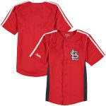 Stitches St. Louis Cardinals Youth Red Chin Music Fashion Button Jersey
