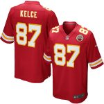 Nike Travis Kelce Kansas City Chiefs Youth Red Team Color Game Jersey