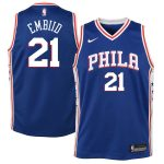 Nike Joel Embiid Philadelphia 76ers Youth Blue Swingman Jersey - Icon Edition