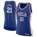 Nike Joel Embiid Philadelphia 76ers Women's Blue Swingman Jersey - Icon Edition
