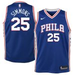 Nike Ben Simmons Philadelphia 76ers Youth Blue Swingman Jersey - Icon Edition