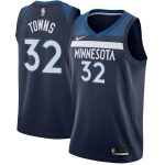 Nike Karl-Anthony Towns Minnesota Timberwolves Navy Swingman Jersey - Icon Edition