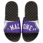 ISlide Karl Malone Utah Jazz Youth Retro Jersey Slide Sandals