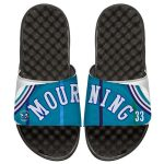 ISlide Alonzo Mourning Charlotte Hornets Youth Retro Jersey Slide Sandals