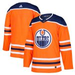 adidas Edmonton Oilers Orange Home Authentic Blank Jersey