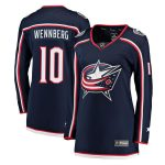 Fanatics Branded Alexander Wennberg Columbus Blue Jackets Women's Navy Breakaway Jersey