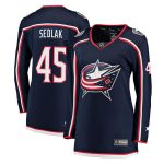 Fanatics Branded Lukas Sedlak Columbus Blue Jackets Women's Navy Breakaway Jersey