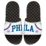 ISlide Philadelphia 76ers Youth White Home Jersey Slide Sandals