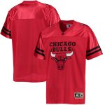 G-III Sports by Carl Banks Chicago Bulls Red Football Jersey