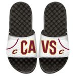 ISlide Cleveland Cavaliers Youth White Away Jersey Slide Sandals