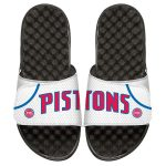ISlide Detroit Pistons Youth White Home Jersey Slide Sandals