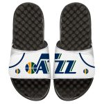 ISlide Utah Jazz Youth White Home Jersey Slide Sandals