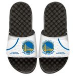 ISlide Golden State Warriors White Home Jersey Split Slide Sandals