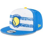 New Era Golden State Warriors White/Royal Hardwood Classics Nights 4 9FIFTY Adjustable Snapback Hat