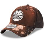 New Era Golden State Warriors Black Bleached Out 9TWENTY Adjustable Hat