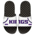 ISlide Sacramento Kings Youth White Home Jersey Slide Sandals