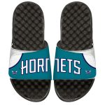 ISlide Charlotte Hornets White Away Jersey Split Slide Sandals
