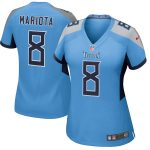 Nike Marcus Mariota Tennessee Titans Women's Light Blue New 2018 Game Jersey