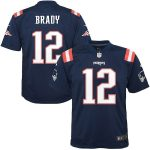 Nike Tom Brady New England Patriots Youth Navy Color Rush Game Jersey