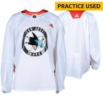 Fanatics Authentic San Jose Sharks Practice-Used White Adidas Jersey from Practice of the 2017-18 NHL Season - Size 58