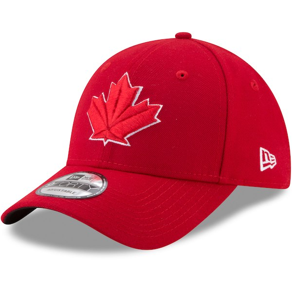 2fd67d3a735c4 New Era Red Toronto Blue Jays Alternate 2 The League 9FORTY Adjustable Hat  - Gear Up For Sports