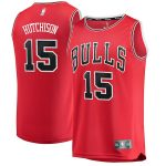 Fanatics Branded Chandler Hutchison Chicago Bulls Youth Red 2018 NBA Draft First Round Pick Fast Break Replica Jersey - Icon Edition