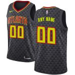 Nike Atlanta Hawks Black Swingman Custom Jersey - Icon Edition