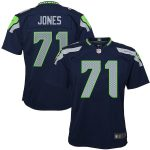 Nike Walter Jones Seattle Seahawks Youth Navy Blue Retired Game Jersey